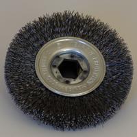 Bild på BEGNER Spånborste metall, sexkants centrumhål (snabbfäste)
